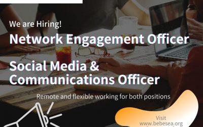 Job Vacancies: Network Engagement Officer / Social Media & Communications Officer