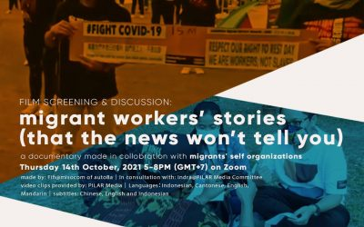 FILM SCREENING AND DISCUSSION:migrant workers' stories (that the news won't tell you)
